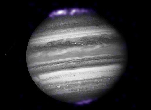 las auroras son algo bastante único en Júpiter