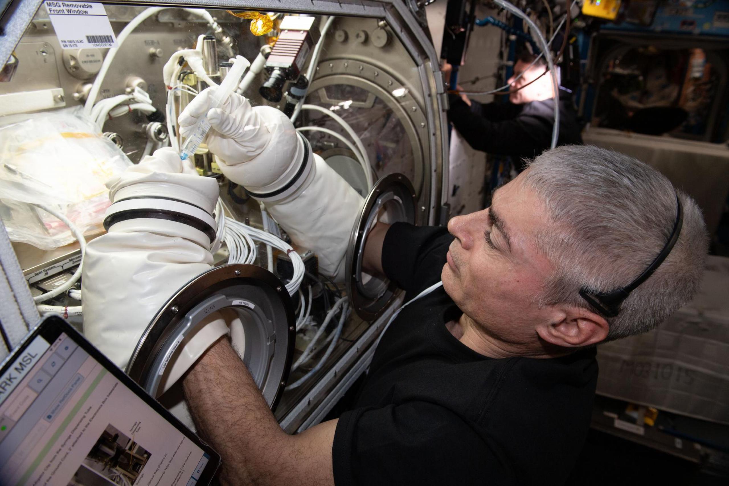 imagen de un astronauta trabajando con una investigación
