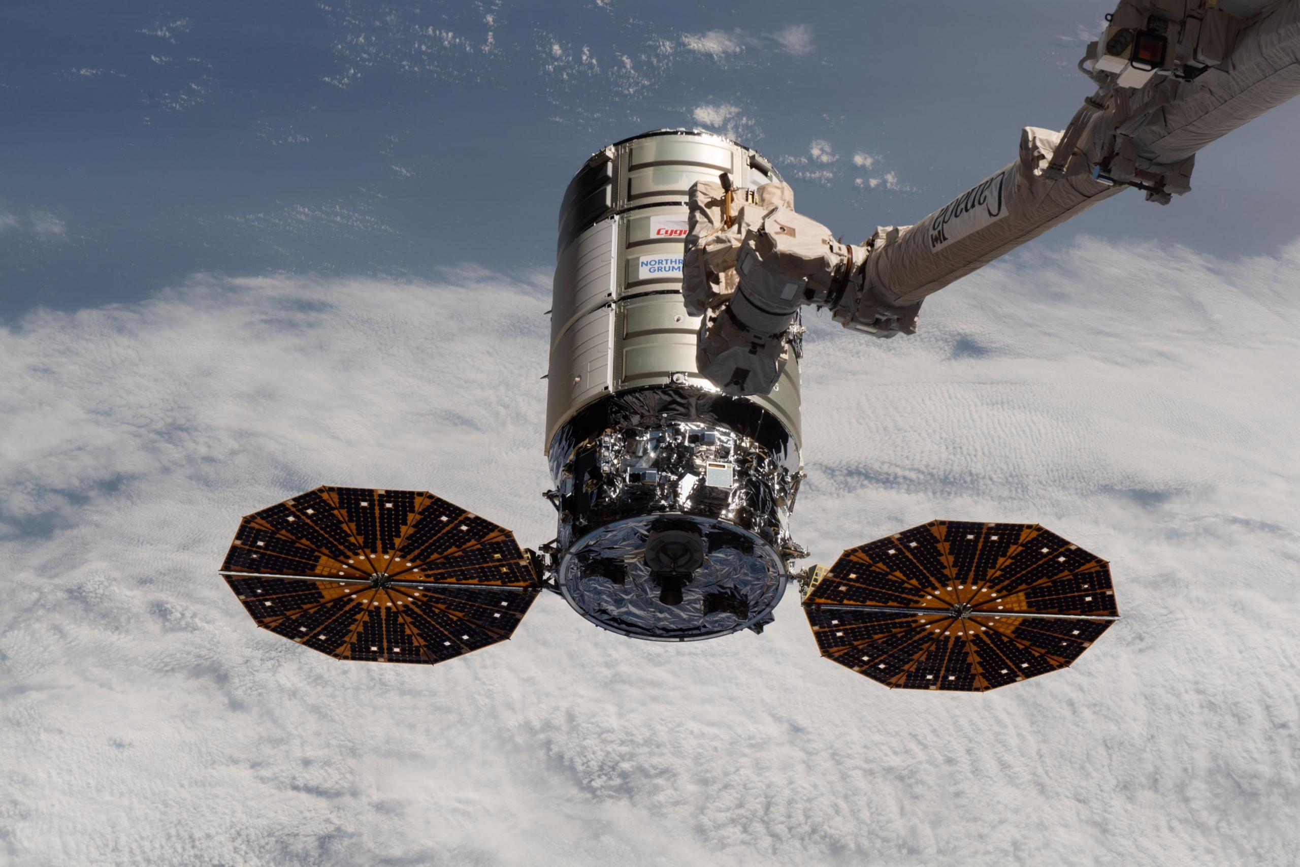 El carguero espacial Cygnus de Northrop Grumman