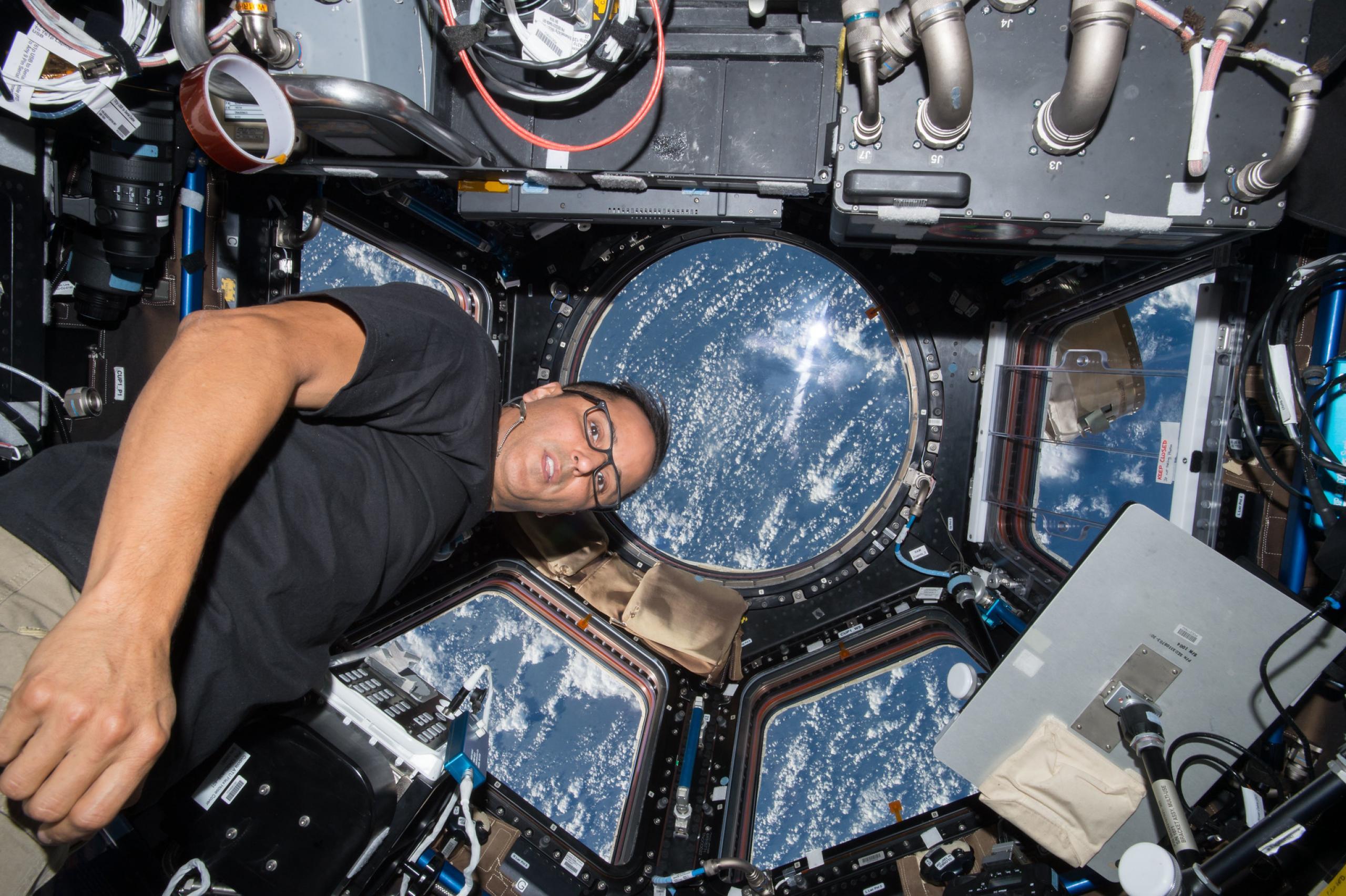 Acabá a bordo de la ISS