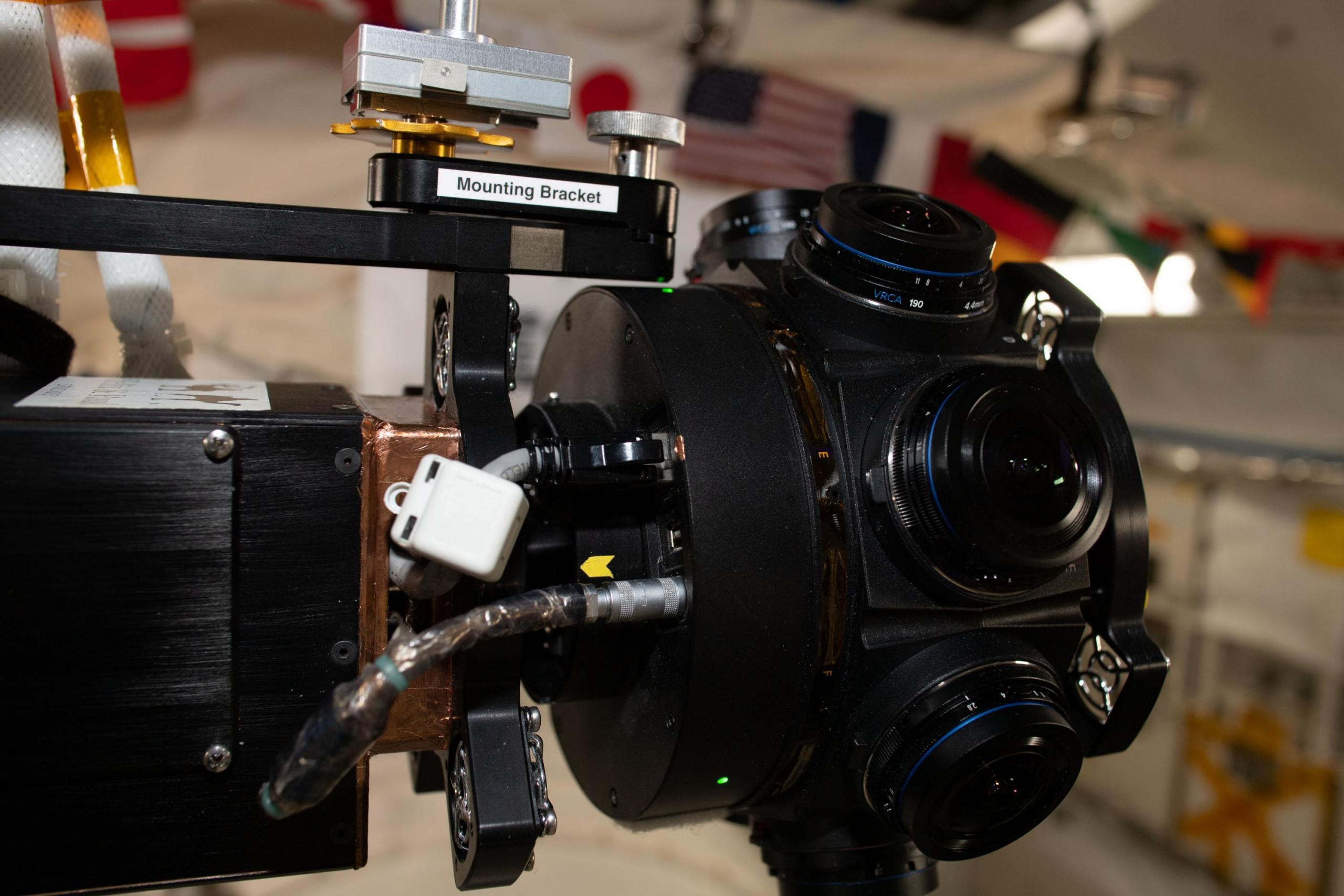 Hardware de cámaras de 360 grados de ISS Experience