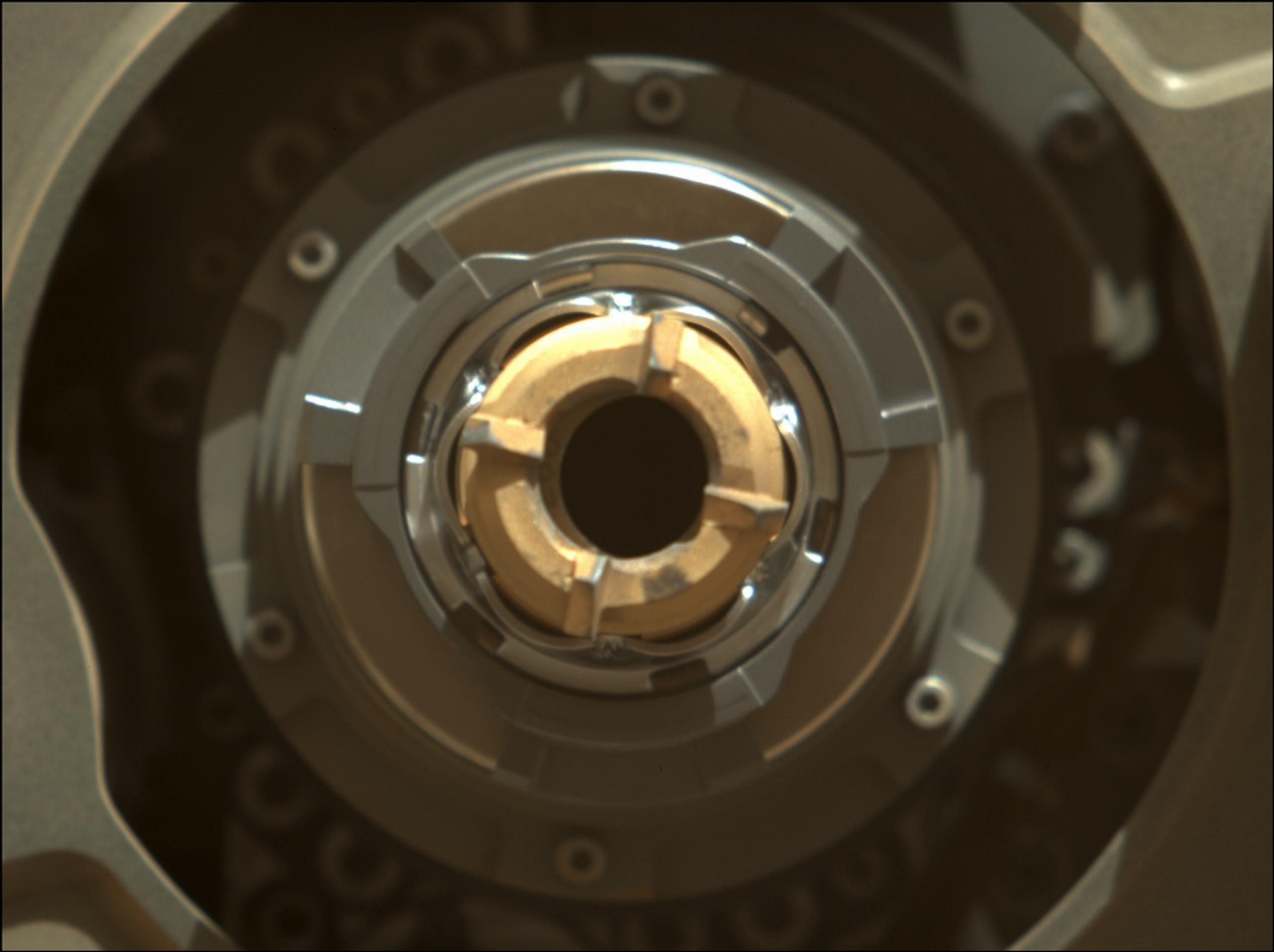 Recolección de primera muestra en Marte