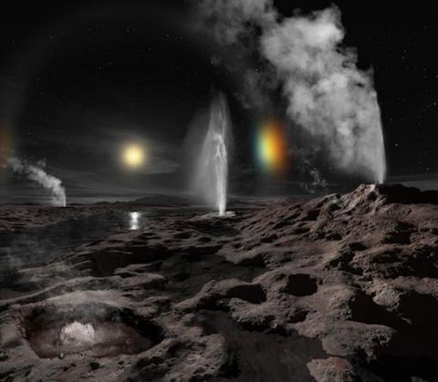 Actualización sobre New Horizons (parhelios en Plutón, 550 píxeles)
