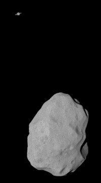 Asteroide Lutetia (conjunción, 200 píxeles)