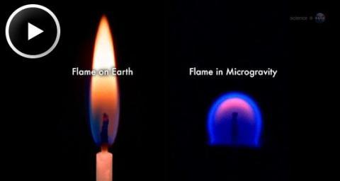 Strange Flames on the ISS (splash)