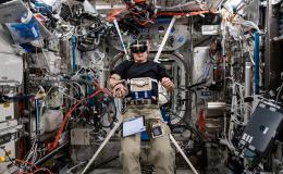 imagen del astronauta en la sesión de la investigación