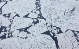 Hielo marino sobre el Ártico