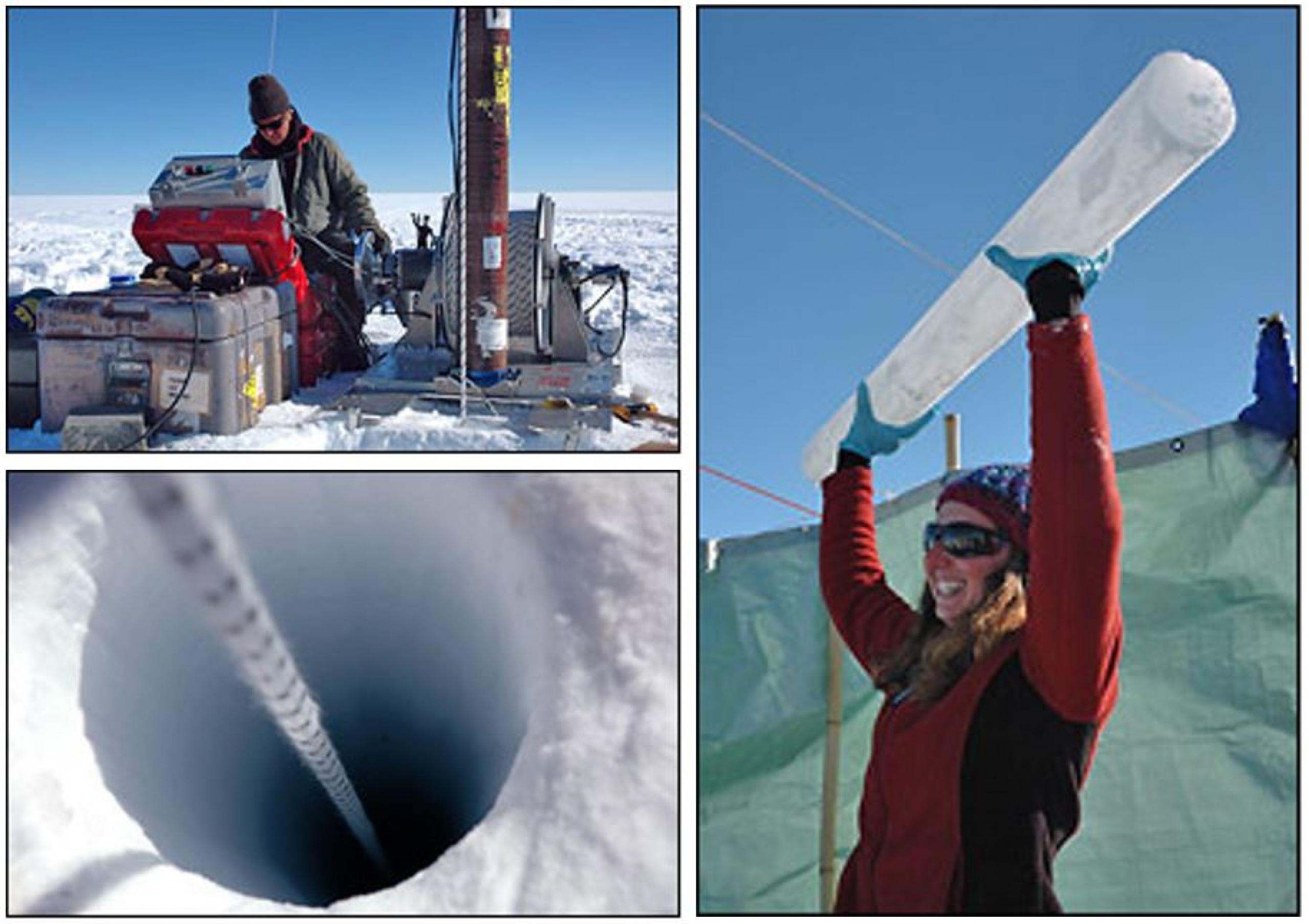 Extracción de núcleos de hielo