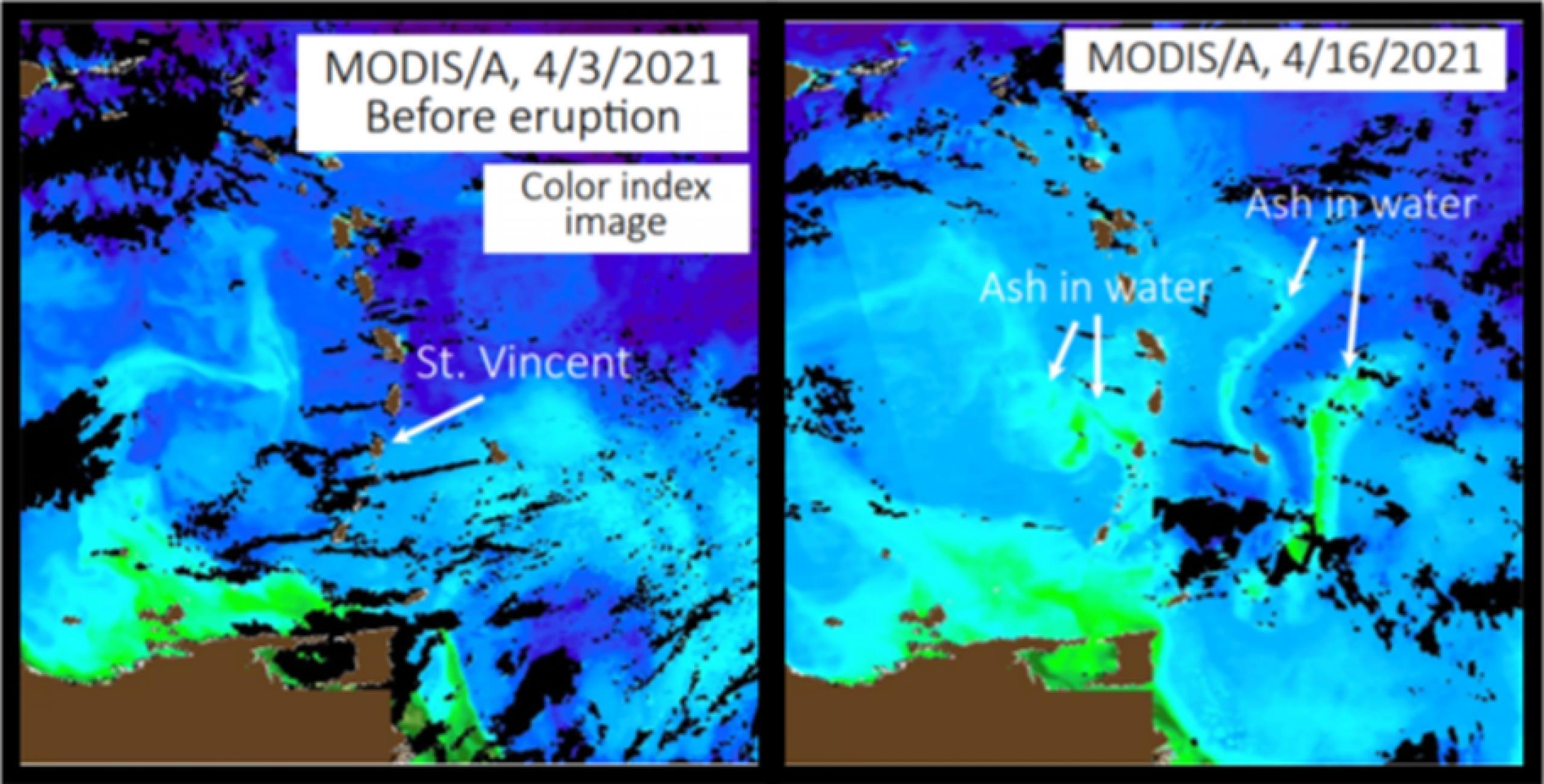Erupción en La Soufrière