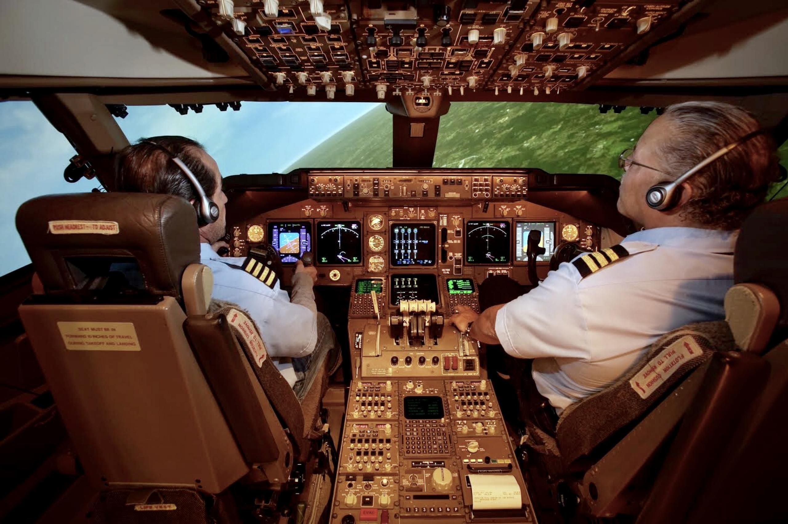 Pilotos en experimento de NASA Ames