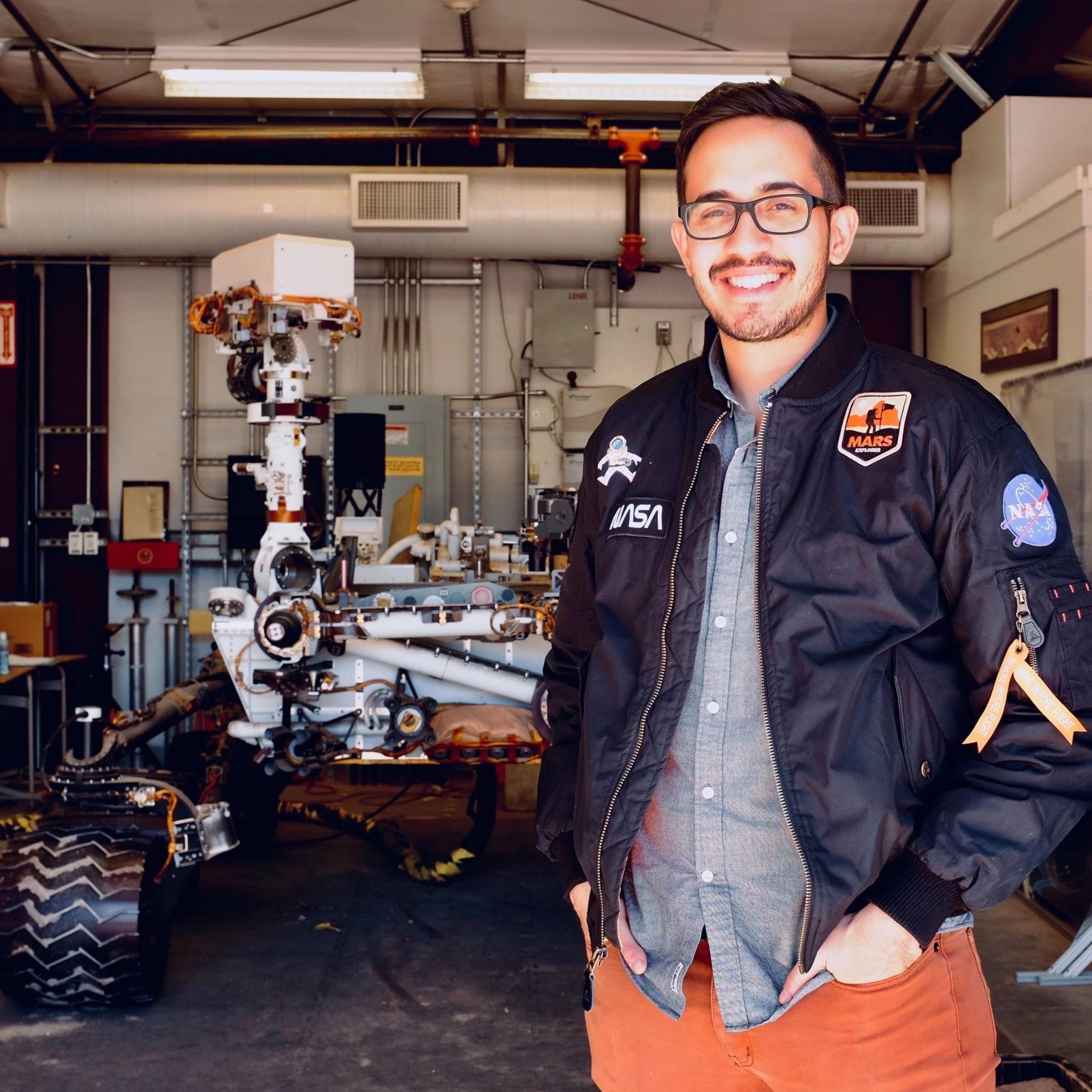 Elio Morillo de la misión Mars 2020 Perseverance Rover