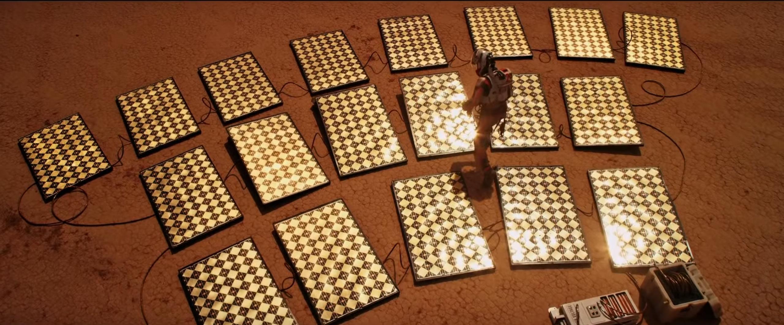Paneles solares en 'The Martian'