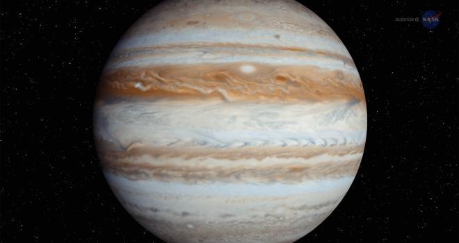 Toda la noche con el planeta Júpiter
