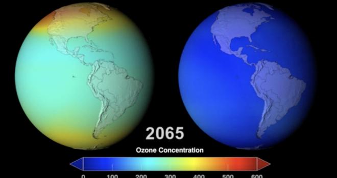 Concentración de ozono /  Unidades Dobson