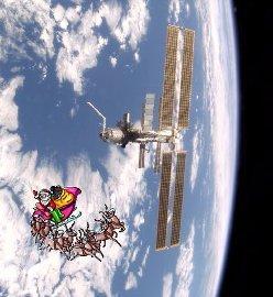 Santa Claus en la  Estación Espacial Internacional