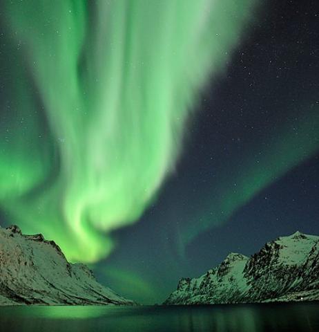 Una explosión de auroras en Noruega, en marzo de 2008