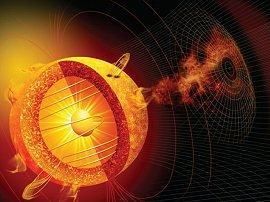 """Concepto artístico del """"Sol variable"""""""