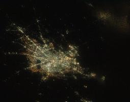 ciudad de Houston vista desde el espacio
