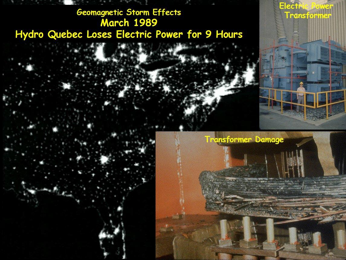 tormenta geomagnética de Québeq (1989) Clima Espacial