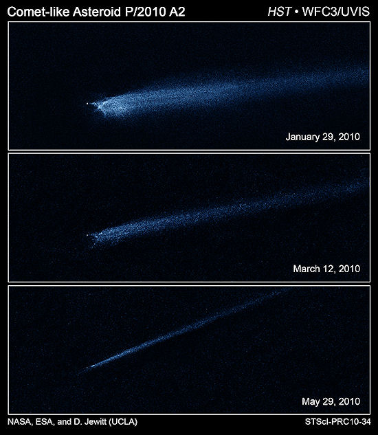 Hubble Observes Aftermath of Possible Asteroid Collision ...