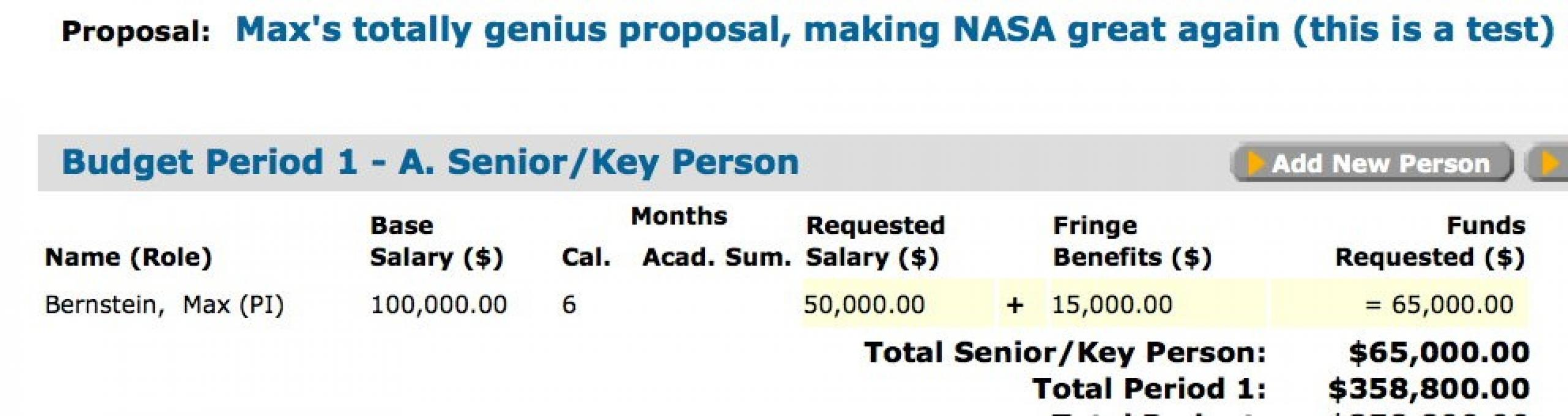Salaries, Overhead, and ROSES Proposal Budgets | Science Mission ...