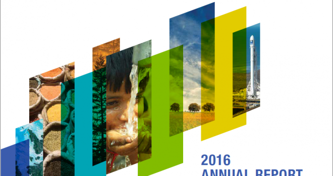 Report and title cover for the NASA Earth Science's Applied Sciences Program 2016 report
