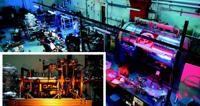 Photo of dust accelerator setup in laboratory