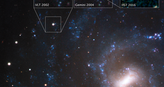 galaxy with inset images