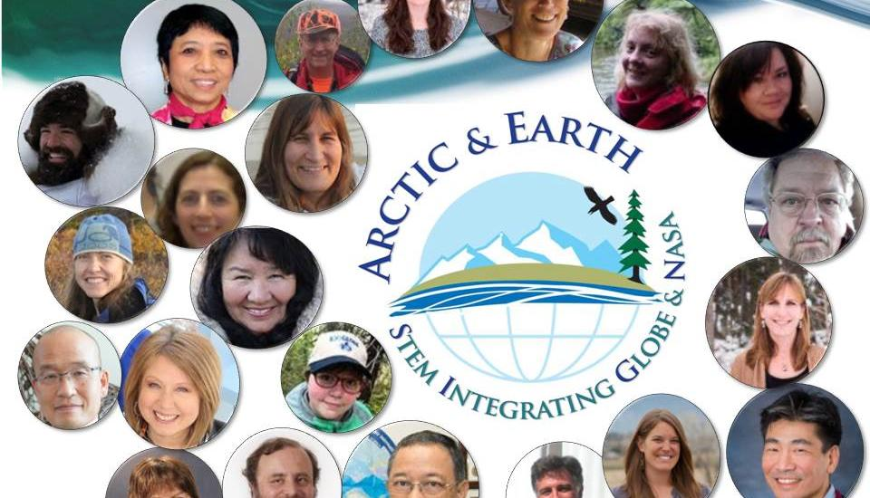 faces surrounding arctic and earth signs logo