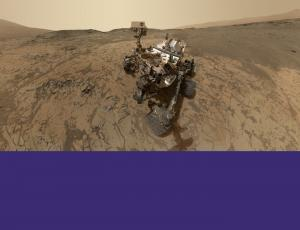 Mars Science Laboratory rover Curiosity exploring the planet Mars