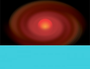 Illustration of a red protostar