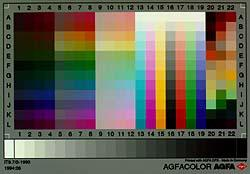 Agfa color chart