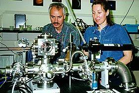Spann and Venturini in lab