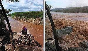 The Potomac River before & after a flood