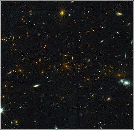 HST images of the distant galaxy cluster MS1054-03