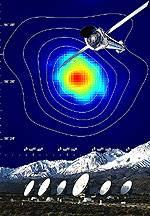 radio image of galaxy cluster composite