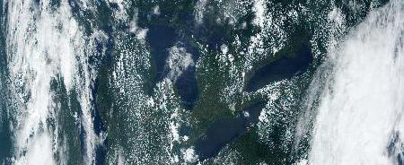MODIS Direct Broadcast image of the Great Lakes