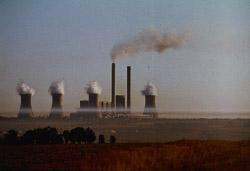 African factories spew smoke into the air