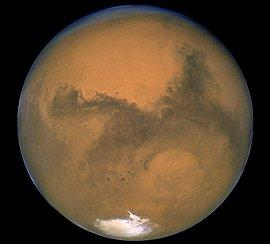 a picture of the planet Mars