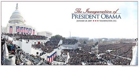 A smaller version of Bergmans GigaPan photo of the inauguration of Barack Obama