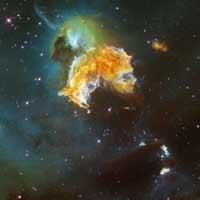 Hubble Space Telescope image of supernova remnant N 63A