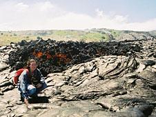 Amanda Hintz on Kilauea, Hawaii