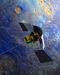 MESSENGER Poised to Orbit Mercury (inorbit, 200px)