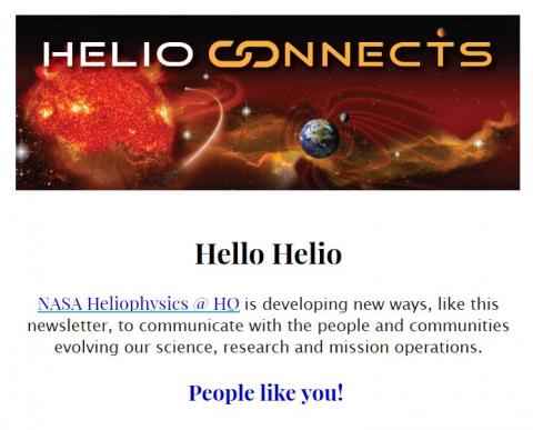 Screenshot of the first part of the Helio Connects May Newsletter