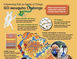 Screenshot of GO Mosquito Challenge infographic