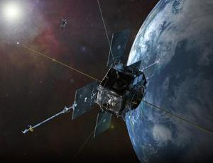 Artist's rendering of one Van Allen Probes satellite