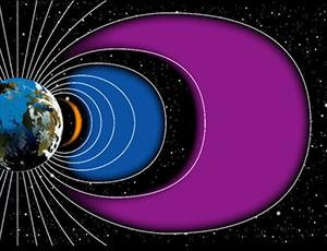 Still capture of an SDO video showing artificial radiation belts