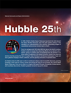 Hubble 25th Anniversary Poster Image