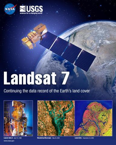 Landsat 7 Mission Poster