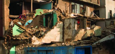 Photo of earthquake damage in Nepal